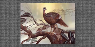 1986 LA Wild Turkey Federation stamp - Hen and Poults